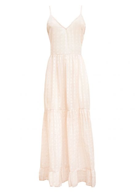 LONG DRESS IN IVORY COTTON