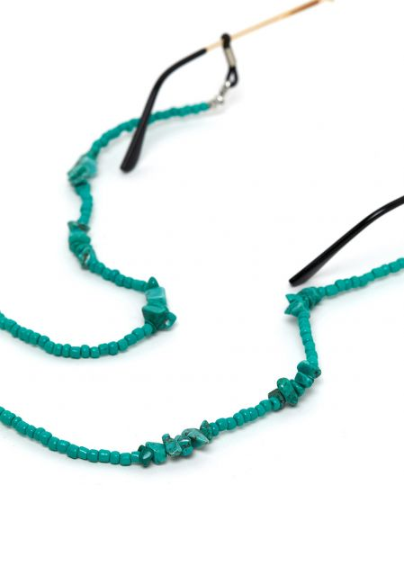 GLASSES CHAIN ??WITH TURQUOISE STONES
