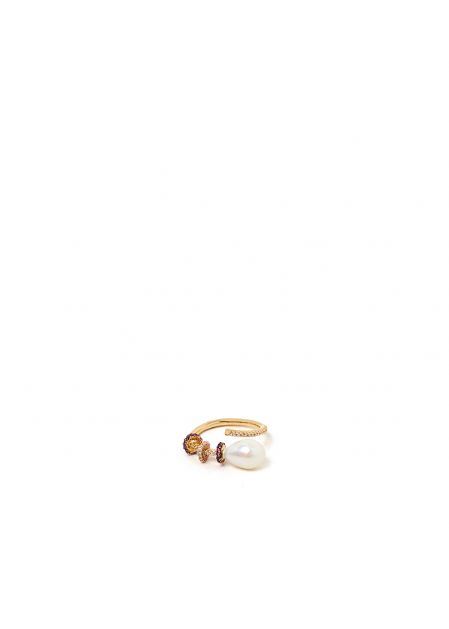 GINEVRA RING PLATED IN 14KT GOLD
