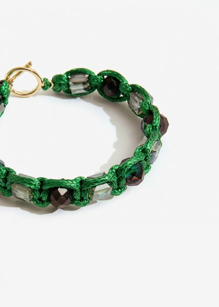 BRACELET WITH GREEN CRYSTALS
