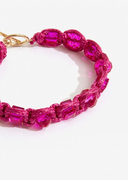 BRACELET WITH FUCHSIA CRYSTALS