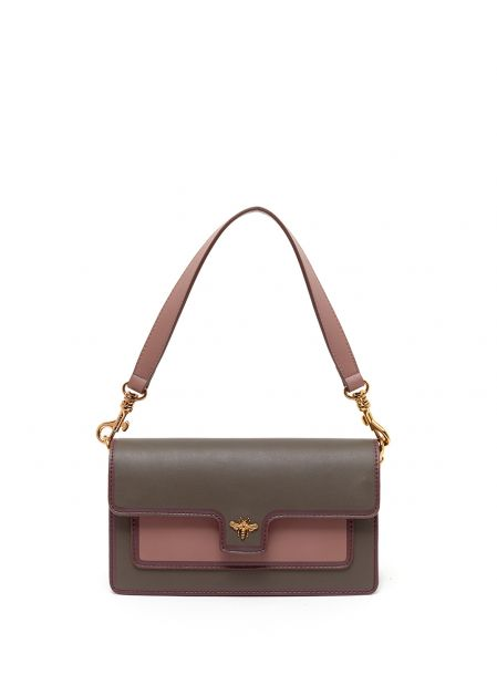 CATRIN CROSSBODY BAG IN PINK/TAUPE