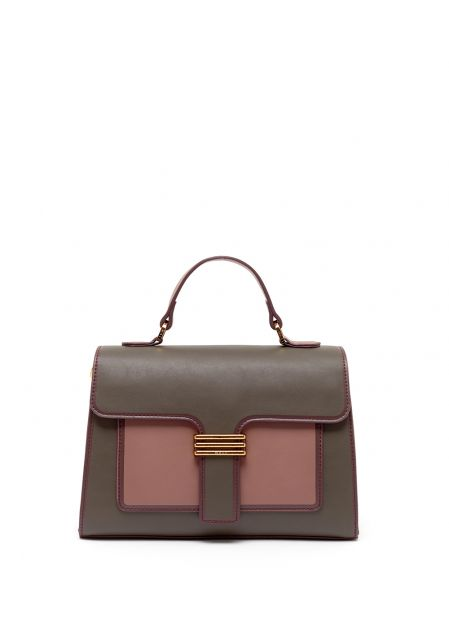 BETTY HANDBAG IN PINK/TAUPE